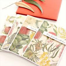 australia christmas cards botanical flora native australiana