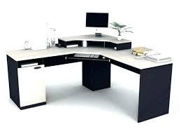 U Shaped Computer Desk U Shaped Computer Desks Large L Desk Back Sma Kidney Glass