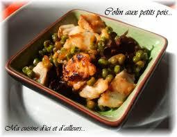 cuisiner du colin recette de colin aux petits pois la recette facile
