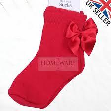 girls boys spanish ankle socks bow or pom poms baby kids size