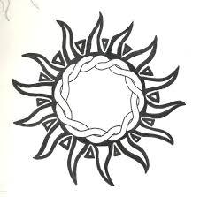 tribal sun by highlanderphill on deviantart