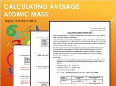 chemistry atomic number and mass number worksheet resources