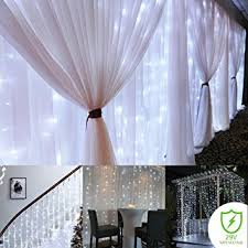 Curtain Christmas Lights Indoors Amazon Com Curtain String Lights 300 Led Icicle Wall Lights