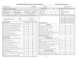 report card format template 3rd gradeprogress report template pausd kindergarten progress