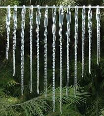 icicles of blown glass 13 tree ornaments