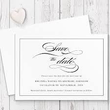 Calligraphy Wedding Invitations Black And White Elegant Calligraphy Wedding Invitation