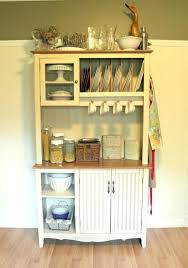 Kitchen Hutch by Small Kitchen Hutch Making Over An Wall Unit Into A Kitchen Hutch