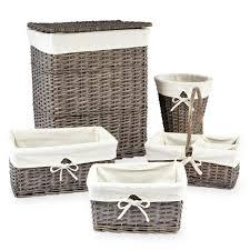 contemporary laundry hamper koala baby 5 pack split willow storage basket set grey babies