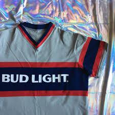 bud light baseball jersey low cost new bud light baseball jersey t shirt large by