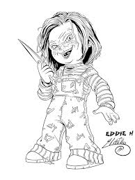 chucky doll coloring pages printable coloring pages weird