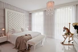 elegant white blackout curtains for bedroom interior