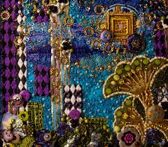 beaded quilts detail of contemporary beaded art quilt