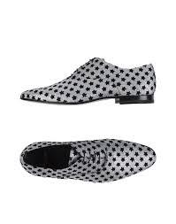 saint laurent laced shoes silver men footwear yves saint laurent