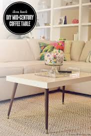 lack end table hack diy retro mid century modern coffee table hacked from a white