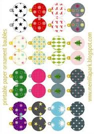 free printable template to make a tree ornaments and a