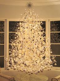 wire pre lit tree with hundreds of colorless ornaments