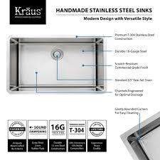 Kitchen Faucet Styles Kitchen Sink Set Khu100 32 Kpf1602 Ksd30 By Kraus Yliving