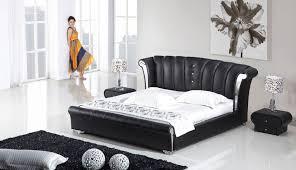 bedrooms black queen bedroom set modern bed frames leather