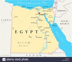 Blank Map Of Egypt To Label by Egypt Map Stock Photos U0026 Egypt Map Stock Images Alamy