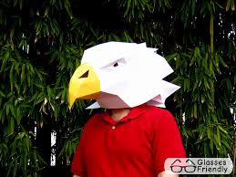 eagle mask make your own eagle with just paper and glue paper