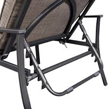 Patio Chair Recliner Furniture Steel Frame Patio Adjustable Recliner Chair For Pool