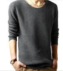 sale cheap sweaters gray o neck sweater leisure thin