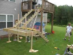 deck stair railing foundation u2014 new decoration ideas to build a