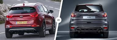 kia sportage vs ford kuga suv comparison carwow
