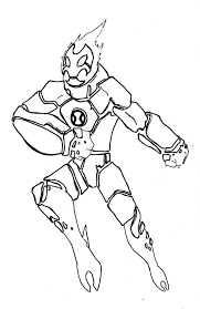 ben 10 heatblast coloring pages sketch coloring page