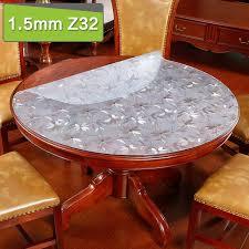nappe cuisine plastique transparent pvc nappe verre doux nappe ronde étanche pour cuisine