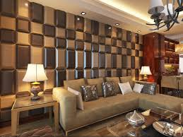3d leather tiles in living room wall design tiles design for walls