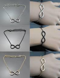 ring bracelet necklace images Infinity gold silver black chain necklace bracelet ring fashion jpg