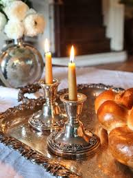 sabbath candles shabbat shalom