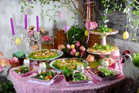 buffet table decorating ideas pictures engaging flower garden table decorations with easter diy