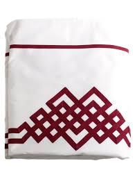 drap en satin de coton drap plat aurore n 24 en satin de coton blanc et ruban rubis