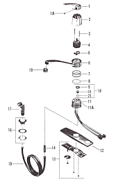 standard kitchen faucet parts diagram repair standard kitchen faucet easyrecipes us