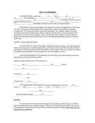 quit claim deed form what is a quit claim deed templates