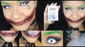 joker inspired makeup zerissene mundwinkel halloween tutorial