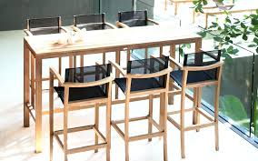 fabriquer table haute cuisine luxe table bar avec tabouret attachant haute et de cuisine pour