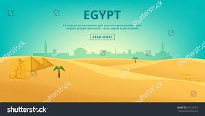 egypt pyramid desert banner horizontal concept stock vector