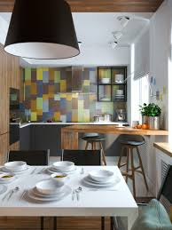 Colorful Kitchen Backsplashes Exposed Concrete Walls Ideas U0026 Inspiration
