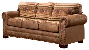 Sofa Bed American Furniture Wild Horses Sleeper Sofa Traditional Sleeper Sofas By
