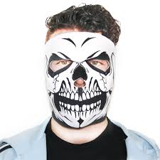 biker mask full face white skull bikmaskfullfac mask rigeshop