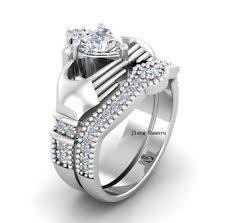 claddagh wedding ring set claddagh ring set ebay