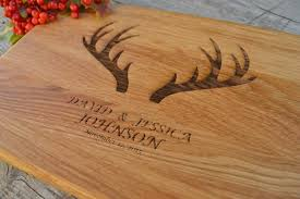 Personalized Kitchen Gifts by Wedding Gift Housewarming Gift Antlers Deer Married Gift Home