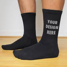 men s large custom printed personalized socks crew