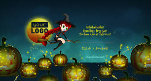 Happy Birthday Halloween Cards Halloween Card Witch By Keiow Codecanyon