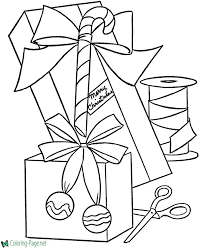 coloring pictures of christmas presents presents coloring pages