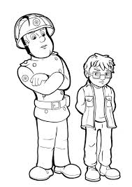 fireman sam rebuke kid play fire coloring