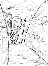 parting of the red sea coloring page coloring home